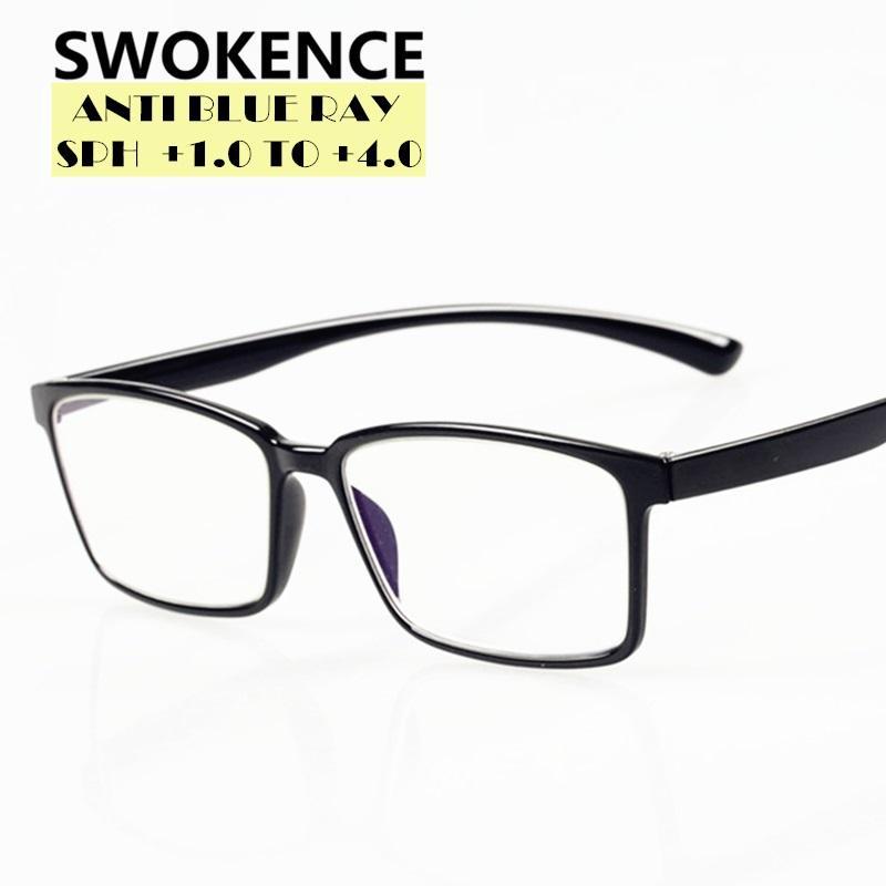 Présbyopie anti-lunettes Hyperopia Lecture Qualité Qualité Femmes Men Ray +1,0 TR90 Swokence High Blue Lunettes +4.0 à Dioptre R159 GFJPU
