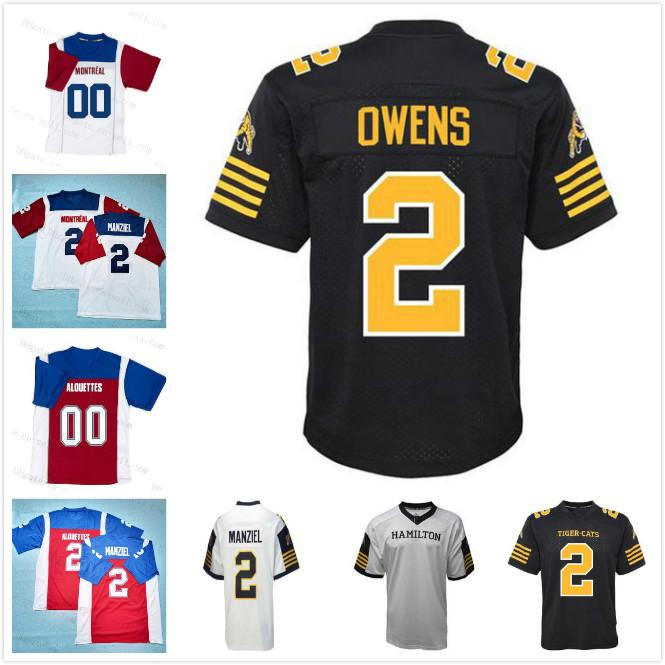 2 Johnny Manziel Hamilton Tiger Cats / Montreal Alouettes Football Jersey Custom Any Name Any Number Stitched Football shirt Men Women Youth