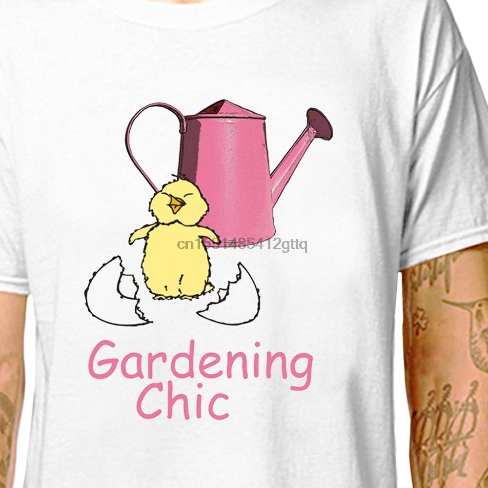 MAGLIETTA Giardinaggio Chick 100% cotone Tees (LazyCarrot) strumenti signora giardiniere carina giardinaggio chic passatempo pensionabile