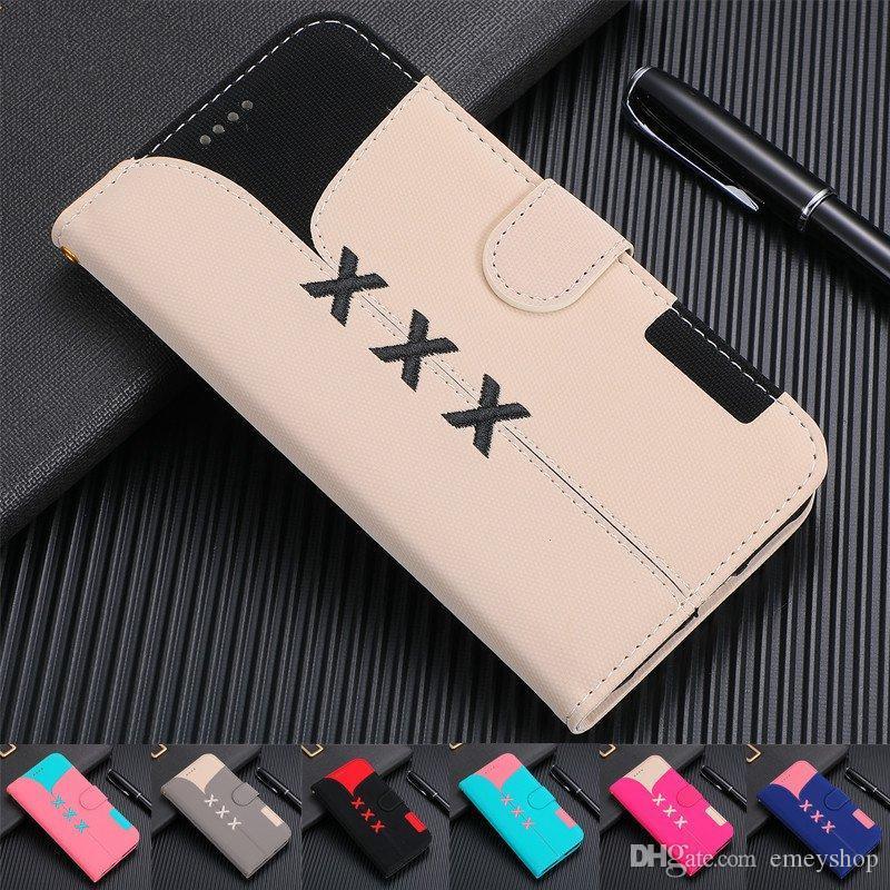 Carteira de couro caso sobre iPhone SFOR 11 Pro Max Virar Cartão tampa do slot para o iPhone de 11 XS MAX X XR 6 6S mais 7 8 Shells Além disso telefone saco