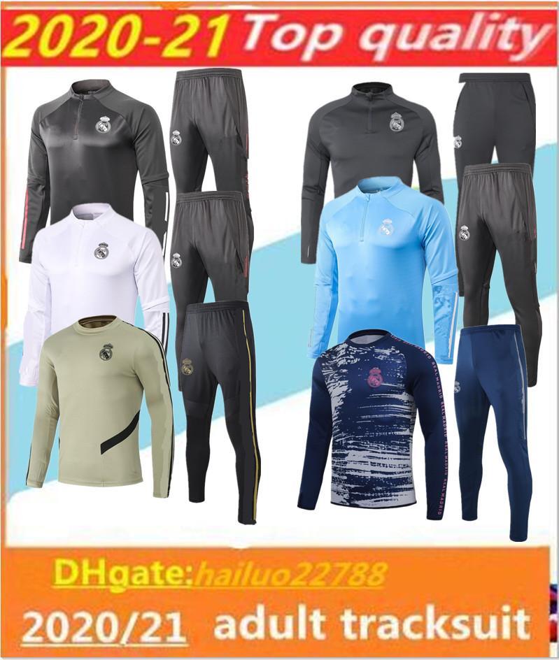 2020/21 Gerçek Madrid Futbol Eşofman Chandal 2020 2021 Camiseta De Futbol Tehlike Benzema Modric Futbol Eğitimi Takım Koşu