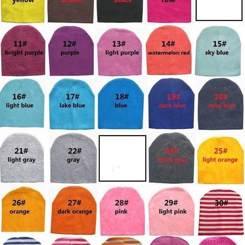 spedizione libera di UPS DHL del cotone della protezione del cappello del bambino cappelli infantili cranio del bambino regalo delle ragazze dei molti colore scegliere