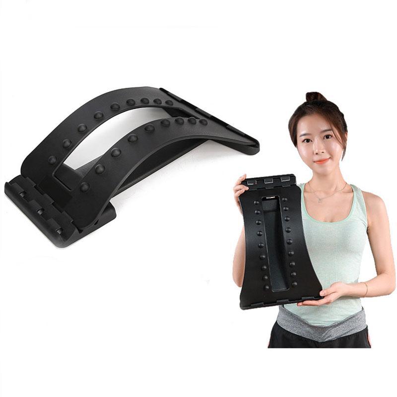 Retour Brancard Support Device lombaire vertébrale soulagement de la douleur 3 Réglages ajustables pour appareil Brancard Noir H7JP