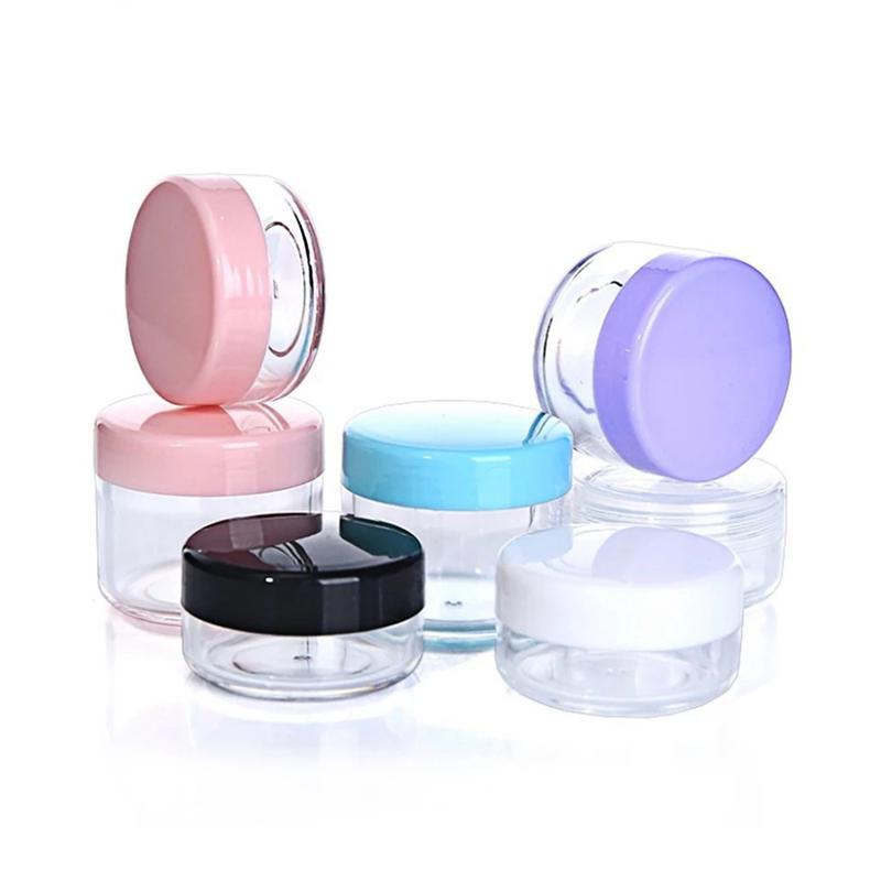Kunststoff Wachs Container Box leeren 10g 15g 20g Travel kleines Glas Fall Cosmetic Topf mit Deckel Gesichtscreme Lippenbalsam Container Jars YFA2547
