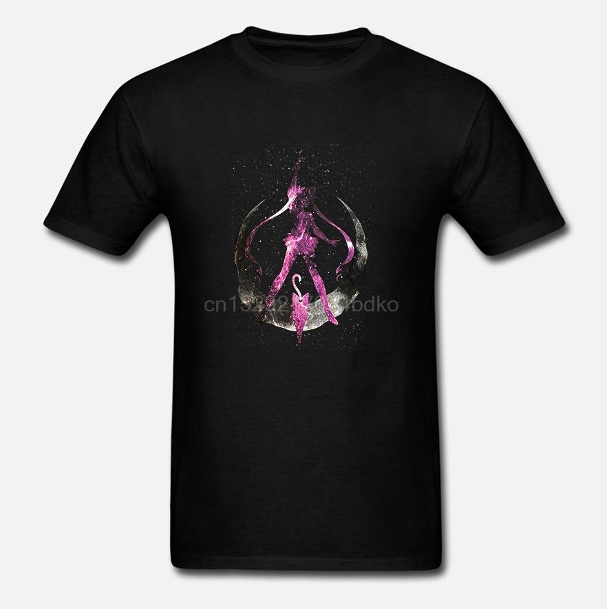 Sailor Moon Raum Silhouette Männer schwarze T-Shirt