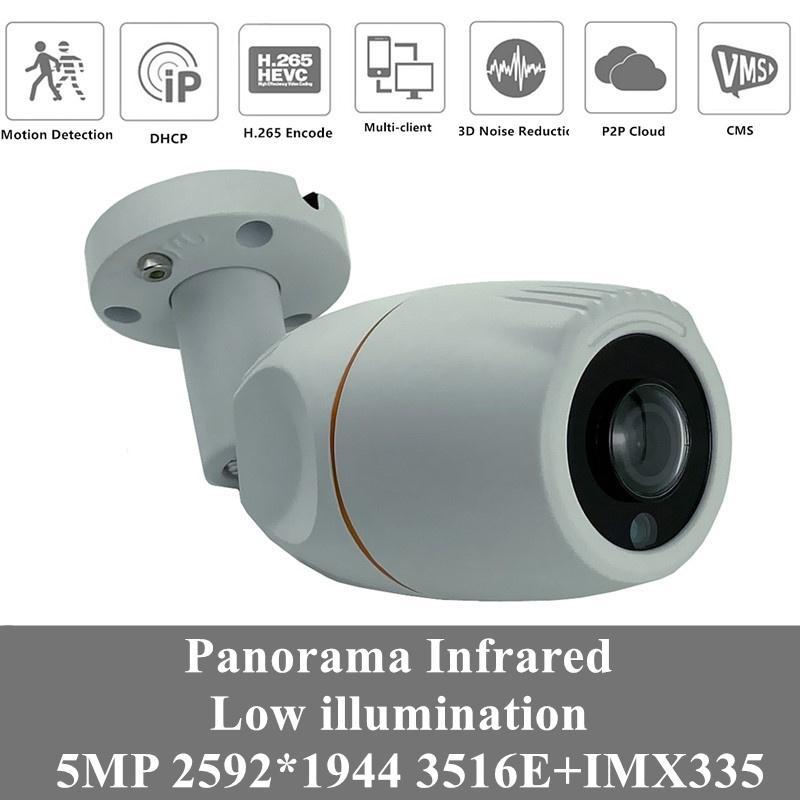 4шт 5MP Panorama Sony IMX335 + 3516EV300 2592 * 1944 IP Металлическая камера IP66 Водонепроницаемая Низкое освещение H.265 IRC Onvif XMEYE