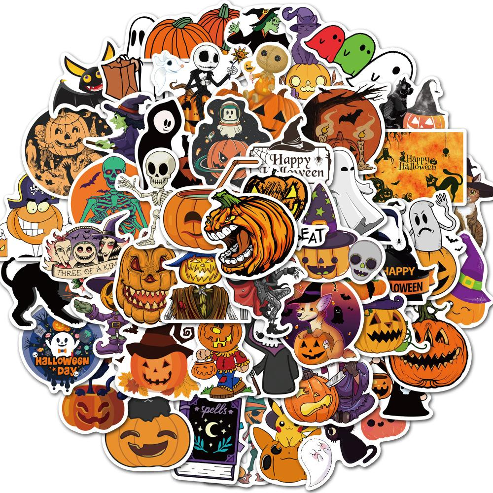 Halloween 50pcs DIY stickers posters wall stickers for home decor sticker on laptop skateboard luggage wall decals car sticker Gifts