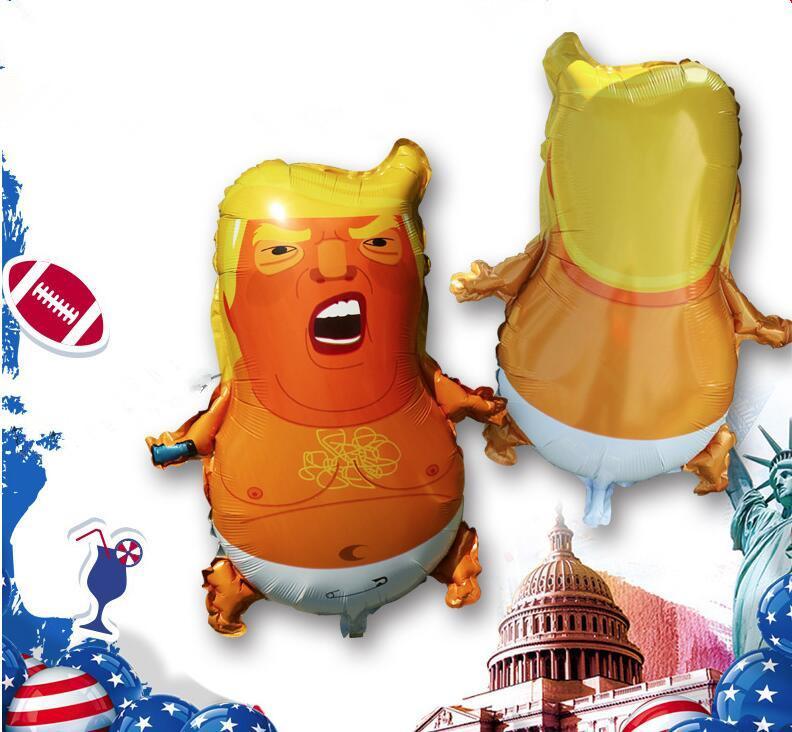 Trump Bebek Balonlar Yaratıcı Benzersiz Parti Balon Favortie Komik Helyum Hava Balonlar Donald Trump Yenilik Partisi Dekorasyon cny2304