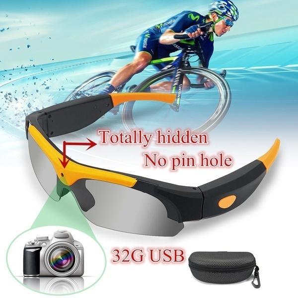 Mini cámaras 1920x1080 120 Gafas de sol de gran angular Agujero oculto Cámara Cámara Gafas de ciclismo Gafas de ciclismo Grabador de video digital Deportes con USB