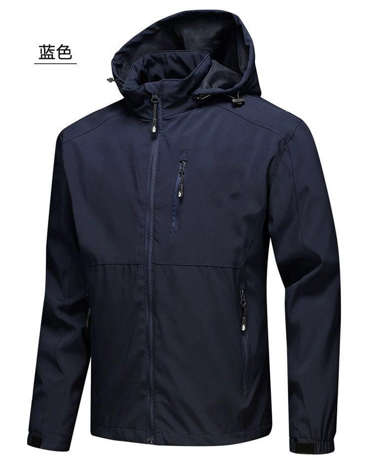 2020 Nuovo mens del progettista di autunno giacche a vento a maniche lunghe da uomo cerniera Windrunner Giacca impermeabile con cappuccio parete nord cappotti vestiti 4XL