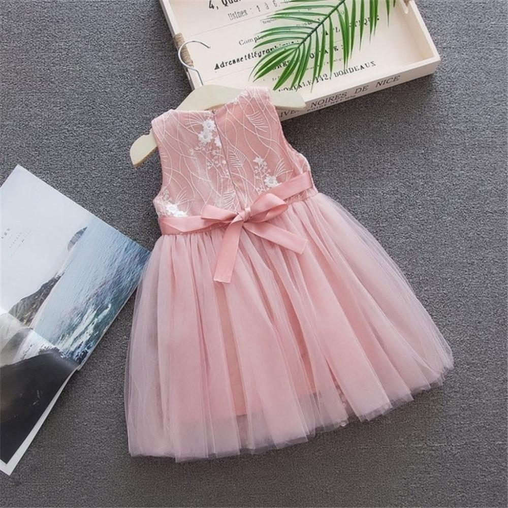 Clearance New Summer Mesh Toddler Baby Girls Sleeveless Solid Tulle Dress Floral Party Princess DressesAXPY Deals