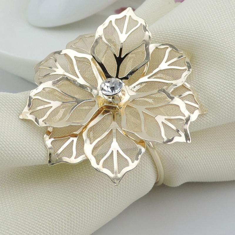 Anéis de guardanapo 10pcs requintado anel de alta qualidade Tabela de jantar oeste acessórios de mesa festival de festas decoração
