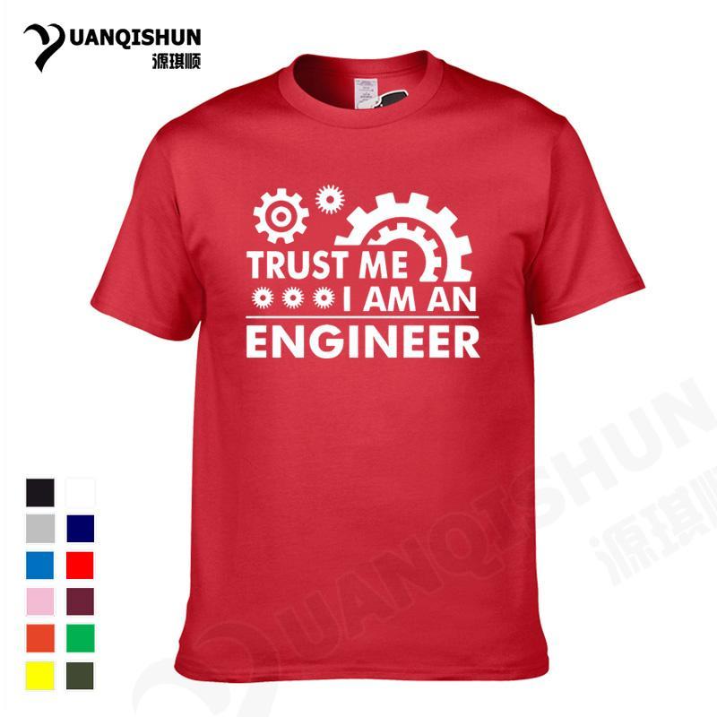 YUANQISHUN 2018 uomini Humor T-shirt fidano di me io sono un ingegnere maglietta del O-Neck Tee Gear divertente Streetwear Abbigliamento Camisetas 3XL