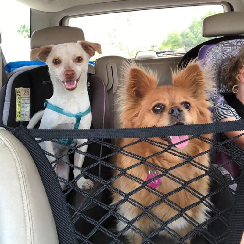 Pet Car Back Seat Barrier Safe Dog Carrier Dog Car Seat Travel Isolation Net Black Pet Safety Net Accessories
