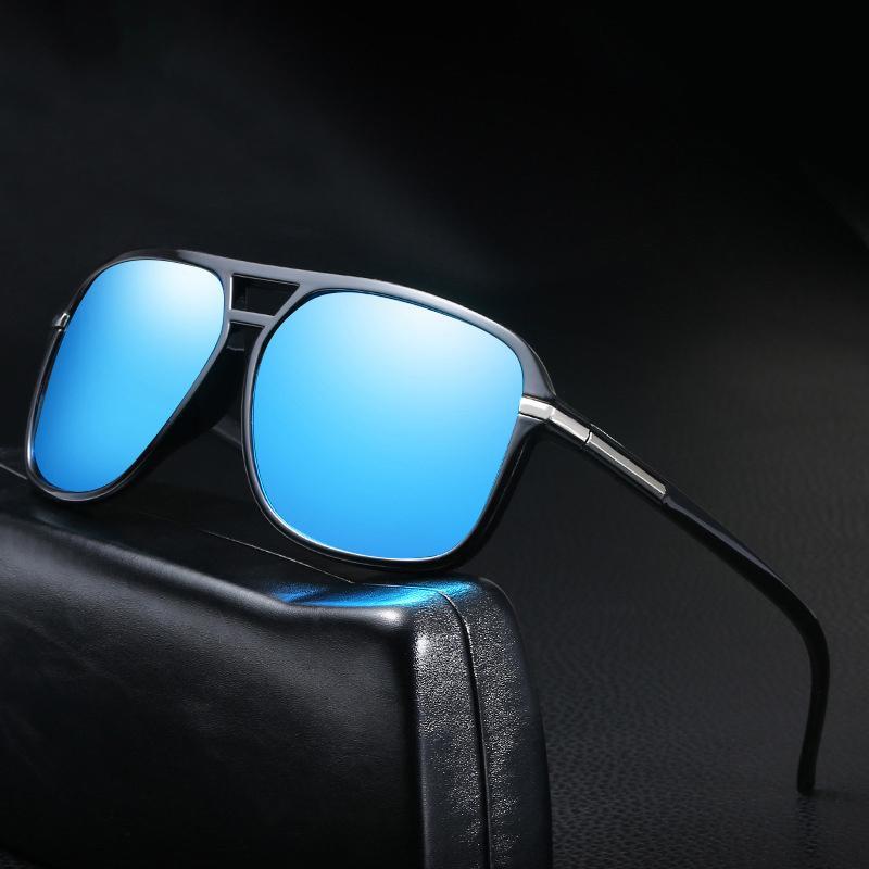 Übergroße Shades Damen Herren Sonnenbrillen Unisex quadratische Gläser große Feld-Vintage Retro Polarisations-Brille Weiblich Männlich Oculos Feminino