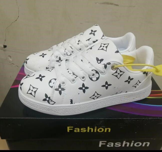 Moda PU sapatos de couro atletismo Passeio ocasional tênis ao ar livre Desporto designer de sapatos colaboração marrom grife Branco PRETO Francês