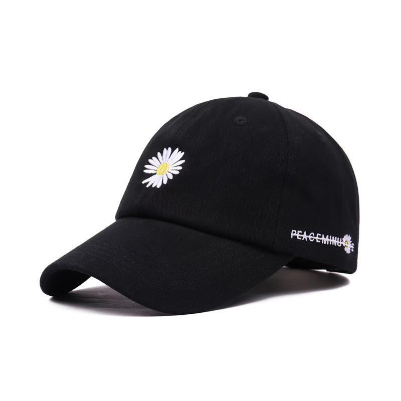Hombres Mujeres Daisy casquillo de la marea Marca Hip Hop Deportes sombrero de la bola de algodón bordado gorras sombrero de moda de verano