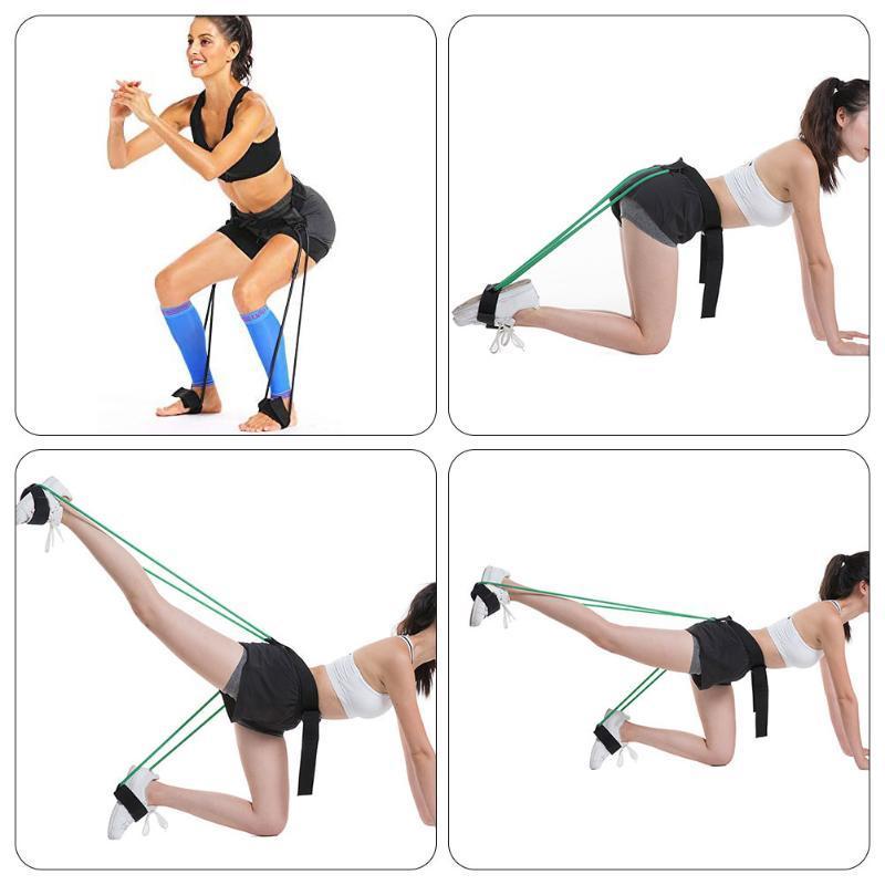 Eğitim Bacak Mukavemet Direnç Gruplar Spor Direnç Gruplar Seti Egzersiz Fitnes Egzersiz Antreman Seti Lateks