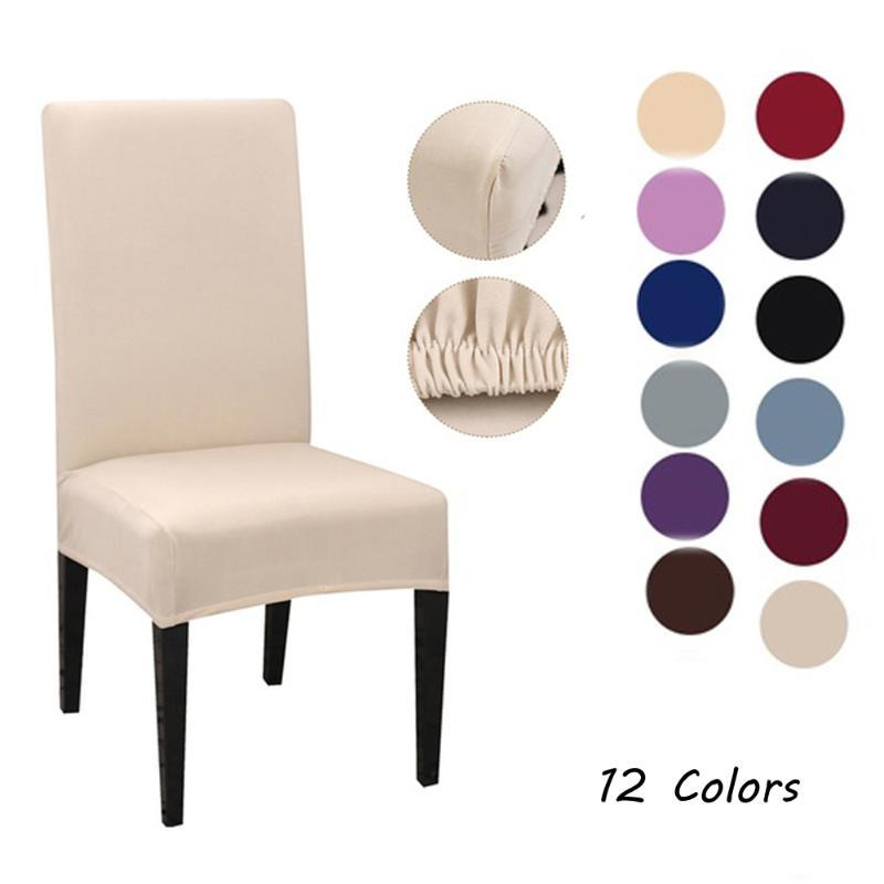 Home Elastic Polyester Stretchable Chair Case Slipcovers Hotel Dining Spandex Chair Cover Case Banquet Kitchen Accessory Tools