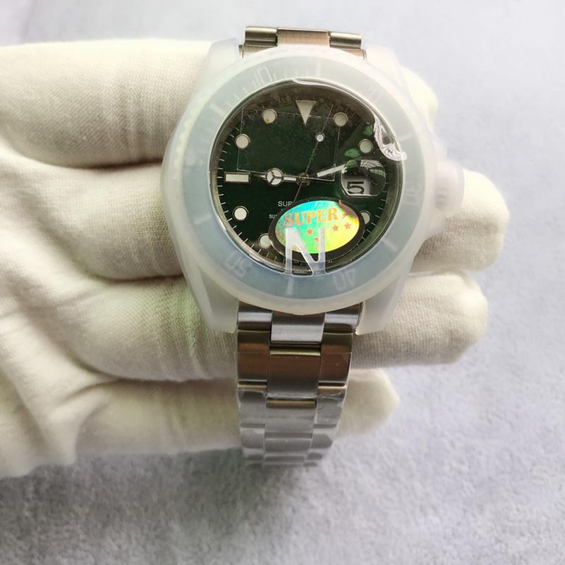 أعلى v3 النسخة التلقائي الميكانيكية الرجال الساعات 50 متر ماء eta 2813 الياقوت السيراميك الحافة الفولاذ الانزلاق قفل الذكور ساعة اليد