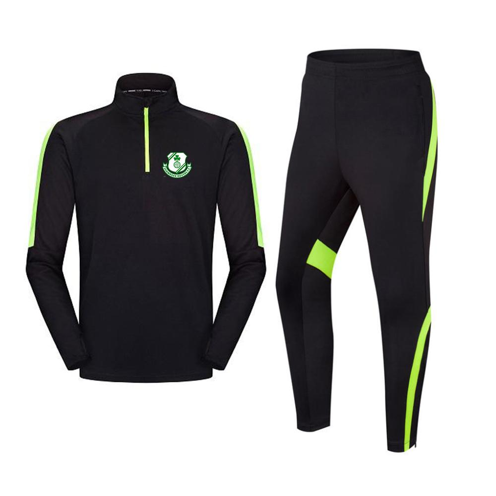 Shamrock Rovers Football Club Mensuit Soccer Soccer Jacker التدريب الدعاوى الكبار الاطفال في الهواء الطلق الرياضية الركض المشي لمسافات طويلة