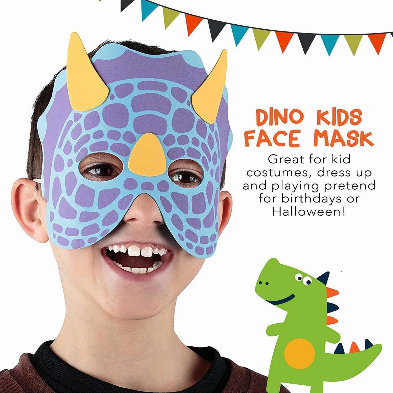 Маски Metable 12шт Маскарад Face - Пена Динозавр маска для детей Тематическая вечеринка украшения Случайный Y200103