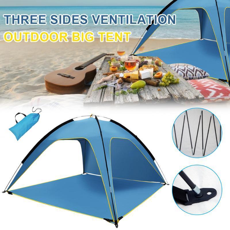 Portable esterno della tenda tenda della spiaggia anti UV Shelter pesca di campeggio facendo un'escursione il picnic impermeabile Outdoor Equipment