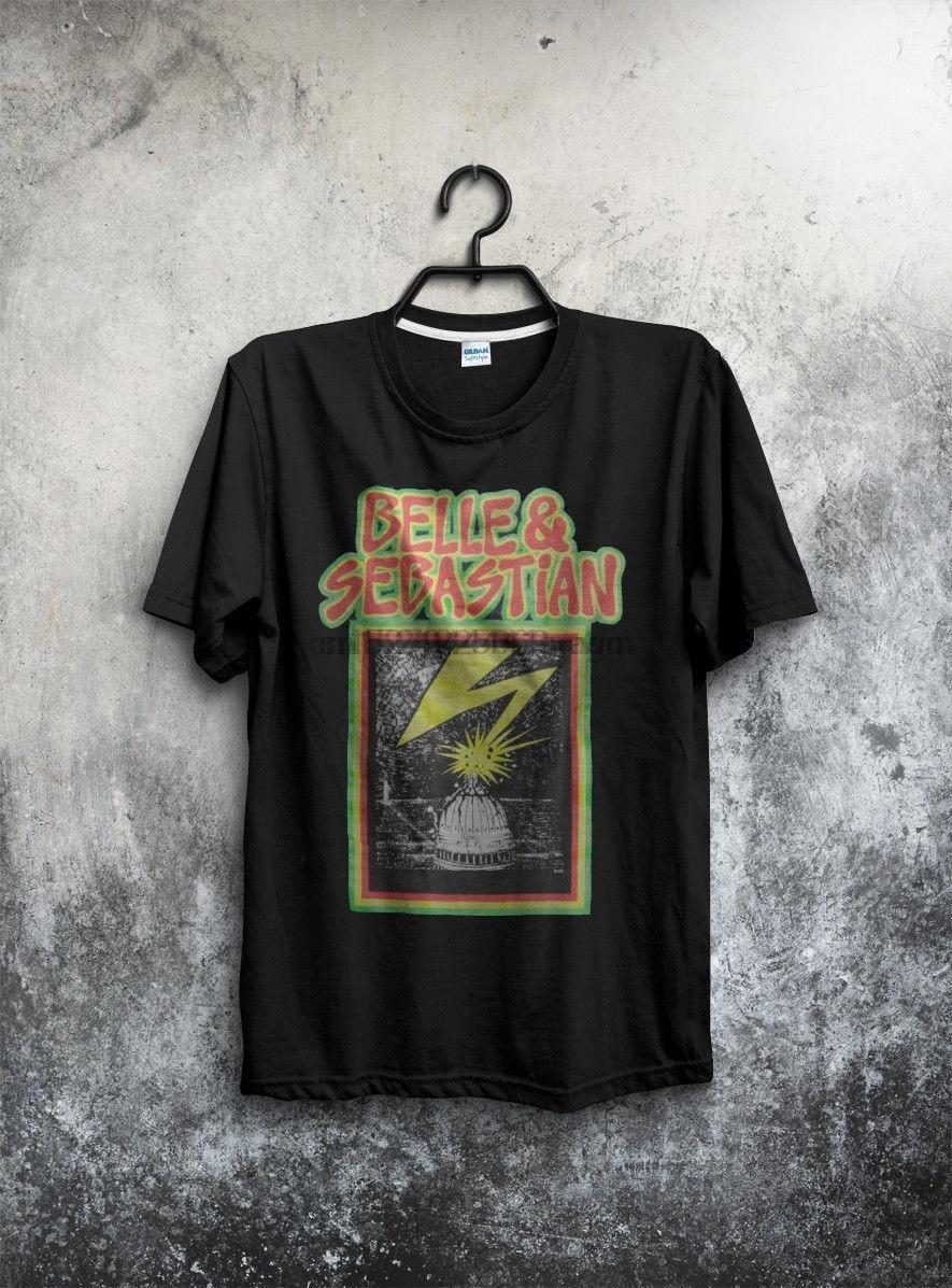 TOP RARE Vintage Belle Sebastian - Bad Brains T-shirt tutto il formato Ristampa