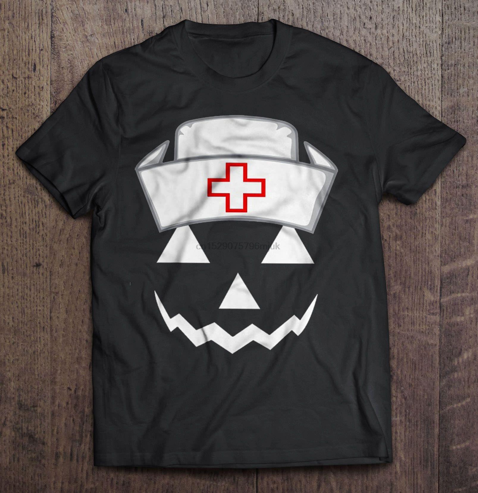 uomini della maglietta del Jack-O'Lantern Nurse Scary Halloween Graphic donne t-shirt