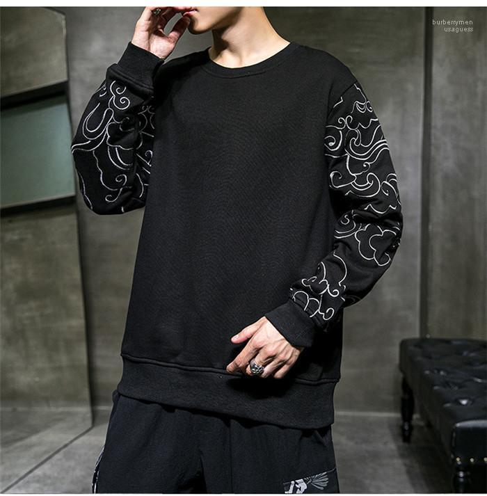 Neck Hoodies solto Primavera Homme pulôver vestuário Mens Designer Casual moleton Moda manga comprida Rodada