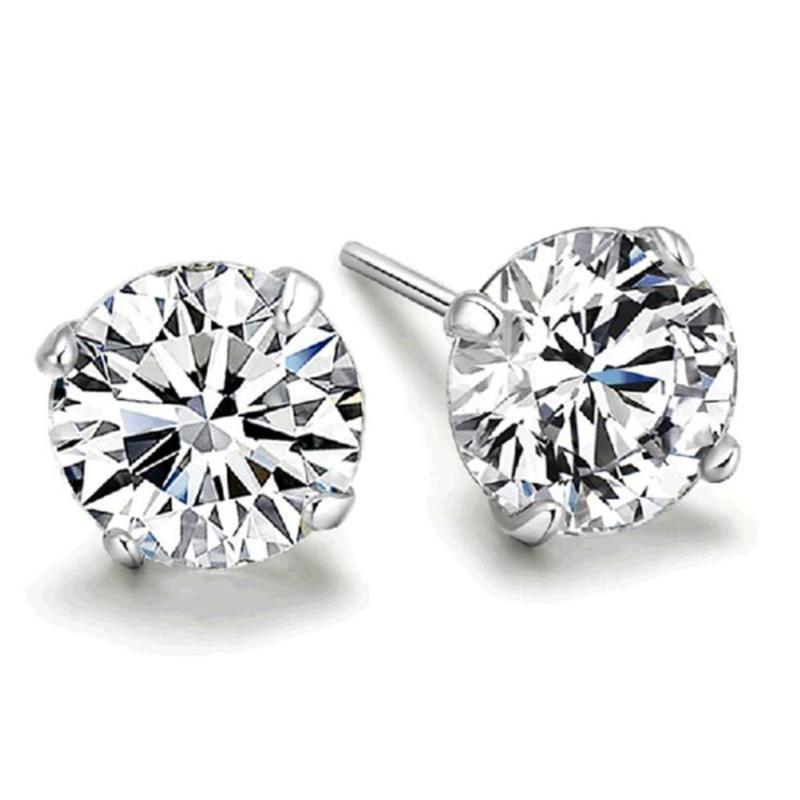 Klassische, weiße Kristall Zirkon Ohrringe für Frauen Hochzeit Schmuck-Geschenk Drop S-E303