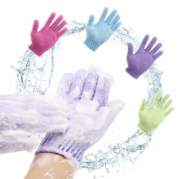 Hot pelle Bagno Doccia panno umido Doccia Scrubber Indietro Scrub esfoliante corpo Massaggi spugna da bagno dei guanti che idratano la pelle Spa Panno 8 colori