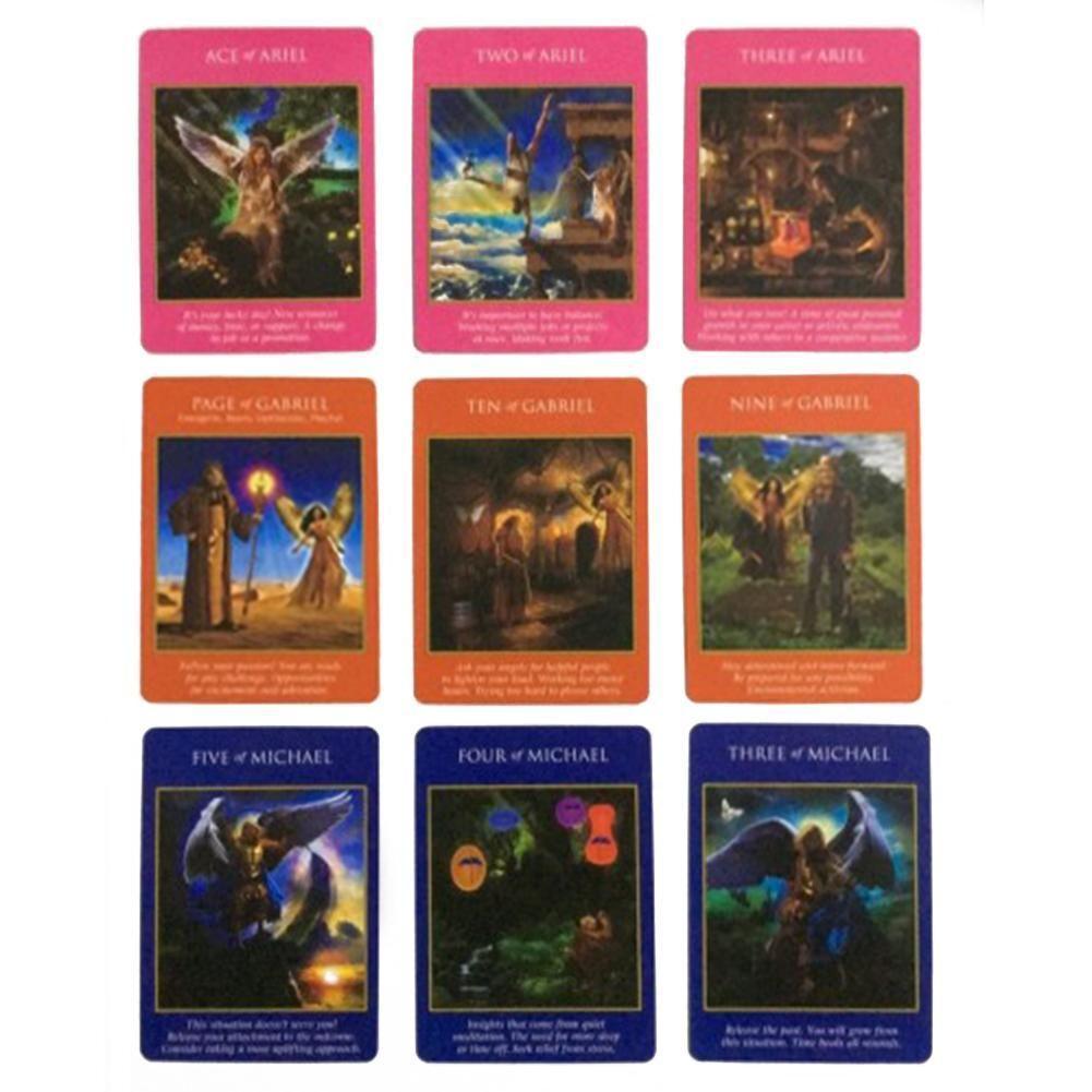 Parti Entertainme yxlaYd İçin Kart Rehberlik Kehanet Kader Tarot Güverte Oyun kartları 78pc Başmelek Güç Tarot Kartları İngilizce Masa Oyunu
