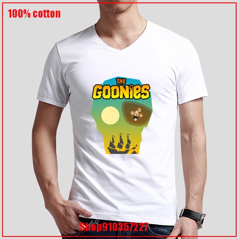 La nueva llegada 2020 camiseta de algodón Amor Tops V-cuello Casual No hay que echar la impresión Goonies Rey de los Piratas de impresión de manga corta de tela gótica