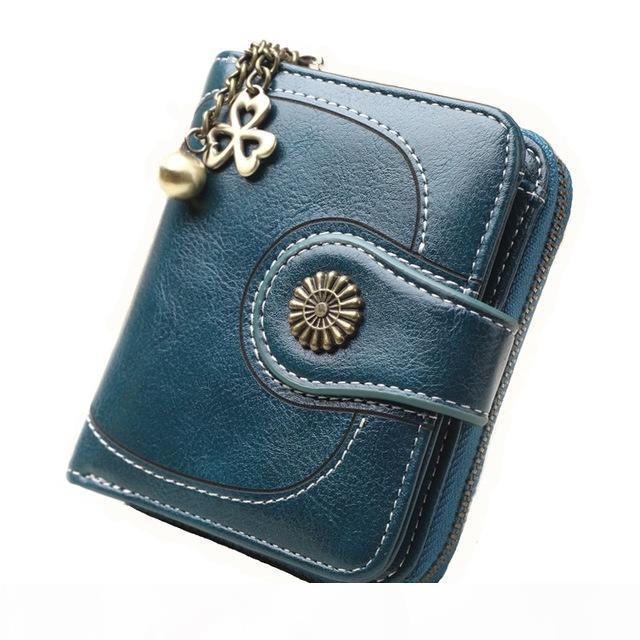 Coin Wallet oil skin hand bag retro coin card bag