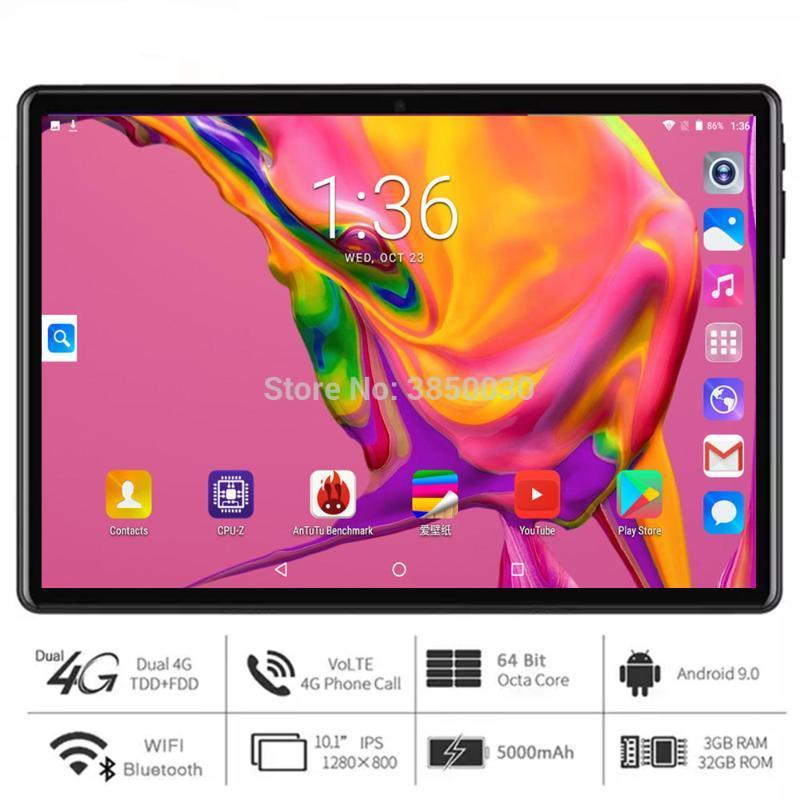 2020 MediaPad 10 inch tablet 4G Phone Call Android 9.0 ram 3G+32GB 1280*800 IPS Dual SIM Dual Cameras WiFi GPS Tablets Youtube