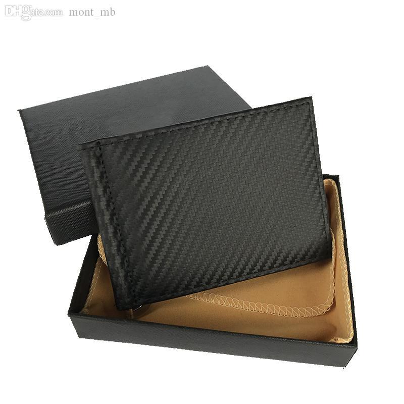 Bolsitas de hombres y Marcas carteras de cuero Card Holders corto carteras partido del negocio de los titulares de efectivo de las mujeres tarjeta de visita Casos monedero de la manera