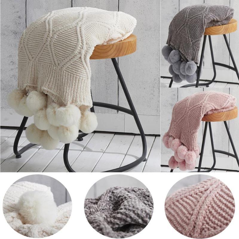 Nordic Couverture Throw Thread tricotée sur le canapé-lit Voyage TV Nap couvertures moelleuses serviettes Lit Tapisserie