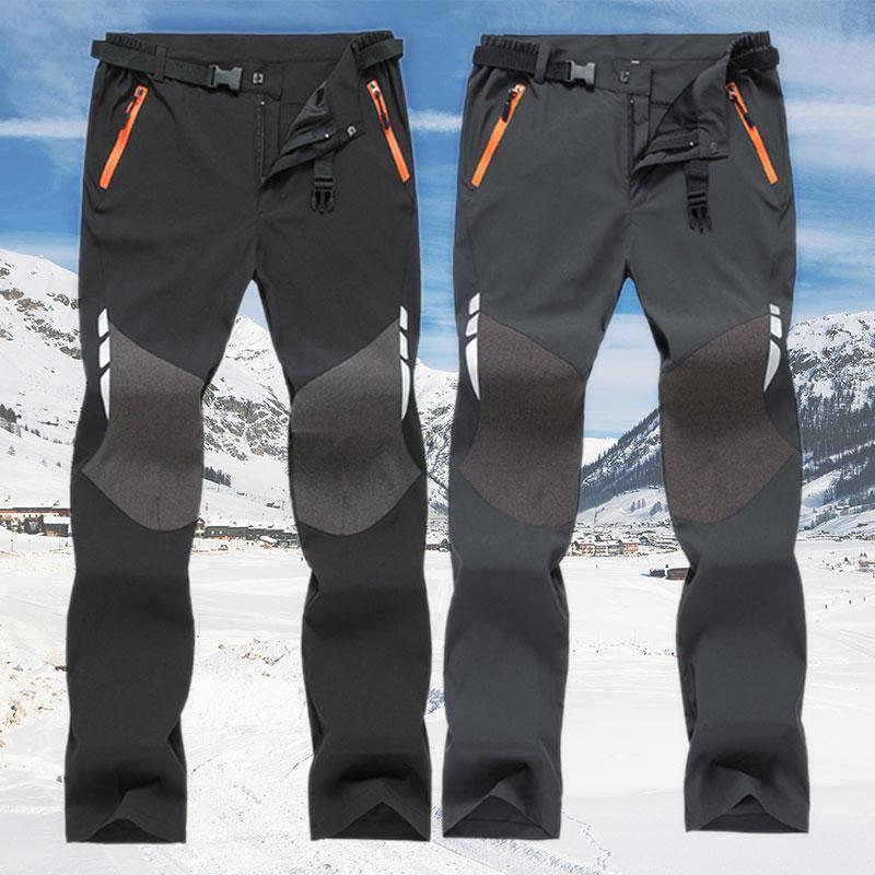 Los hombres heterosexuales Charged Sweatpant Casual impermeable al aire libre Senderismo Trekking pantalón para hombre de la cremallera remiendo Pantalones Pantalones Cargo