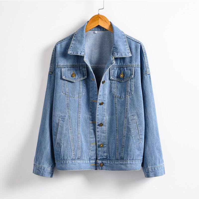 Blue Coat denim chaquetas de las mujeres de otoño 2020 chaquetas de mezclilla de mujeres Jeans solo pecho femenino abrigos Ropa