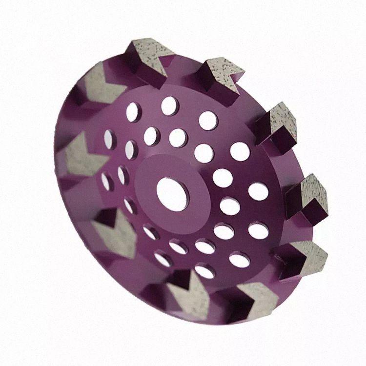 GD42 alta nitidez de diamantes de pulir Herramientas de 7 pulgadas disco diamantado esmerilado con 10 Flecha Segmentos para hormigón terrazo Suelo 9PCS y7IB #