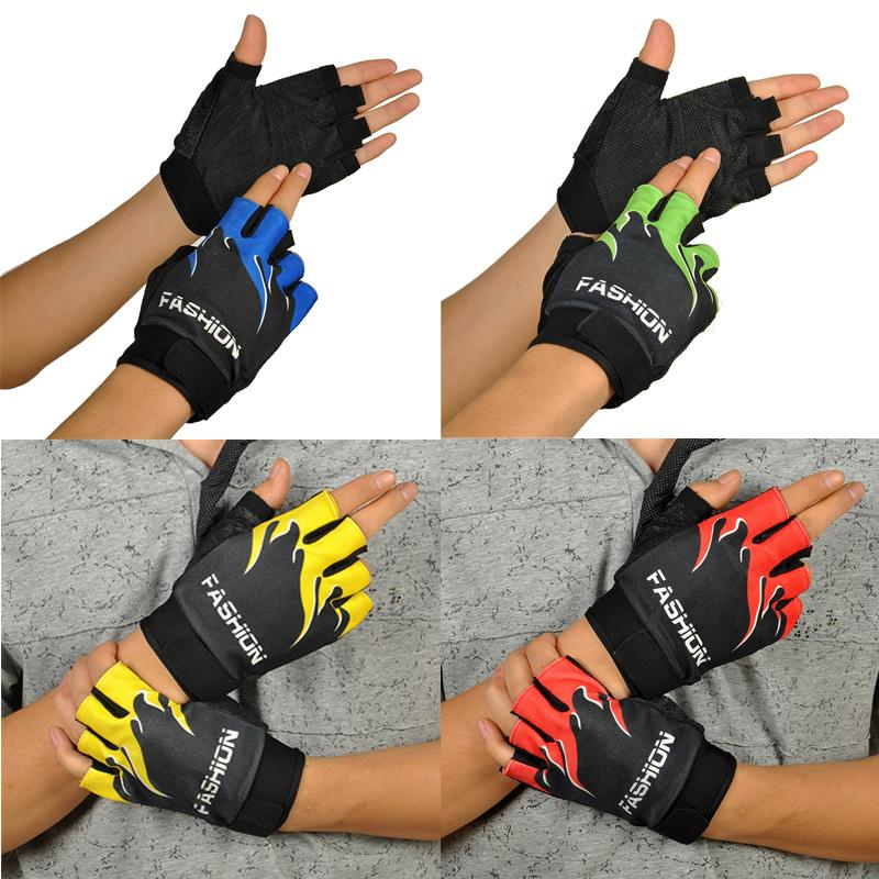 Outdoor Sports Bicycle Cycling Biking Hiking Gel Half Finger Fingerless Gloves Breathable Motorcycle MTB Road moto Gloves #30