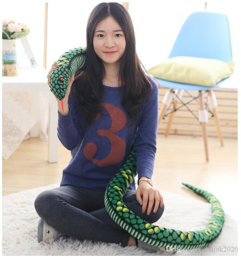 Kid Spielzeug Wacky Spielzeug Tierpuppen Große Boa Constrictor Puppe Mehrere Farben 2020 heiße Verkaufs Geschenk des Freunds