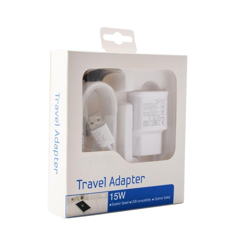 100set/lot Fast Charging US/EU Wall Adapter 1.5M Micro Usb Cable For Smart Phone S6 Edge Note 4 With Retail box