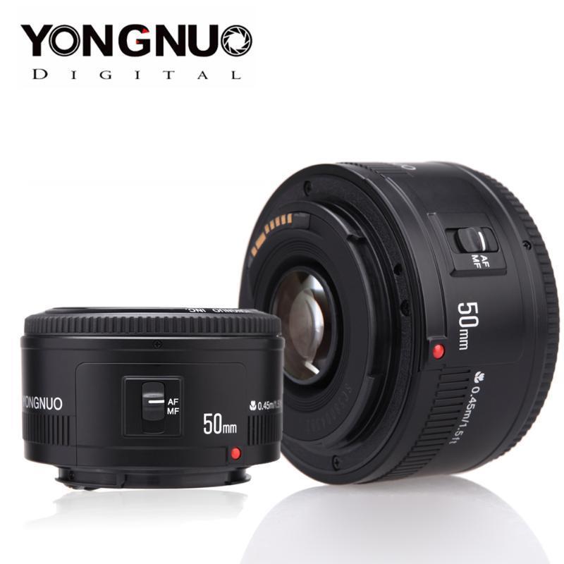 YONGNUO YN의 EF 50mm f를 / 1.8 AF 렌즈 0.8 표준 프라임 렌즈 캐논 EOS 60D 70D 5D2 5D3 600D DSLR 카메라 용 조리개 자동 초점