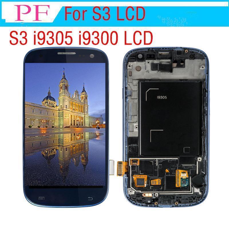 I9305 Дисплей для Samsung Galaxy S3 I9300 ЖК-дисплей с сенсорным экраном дигитайзер Полное собрание Замена ЖК Dhl Бесплатная доставка