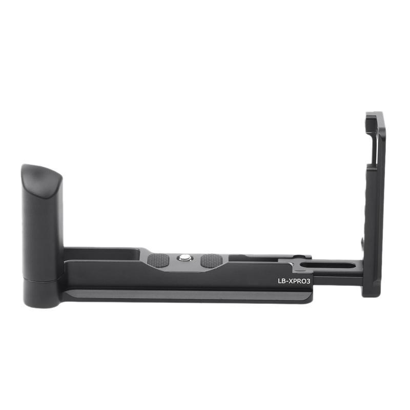 Aluminium vertical L Support trépied QR plaque de base poignée pour XPRO3 Xpro-3 Titulaire de la caméra