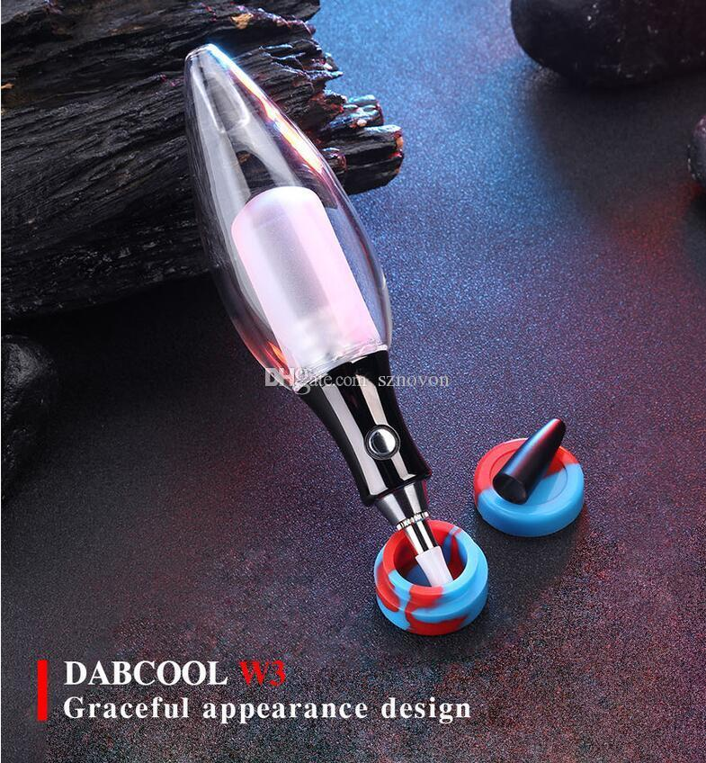 DABCOOL W3 2020 Benzersiz Tasarım Elektrikli Dab Teçhizat Sigara Elektrikli Sigara Su Borusu Cam Su Borusu Nektör Toplayıcı DHL