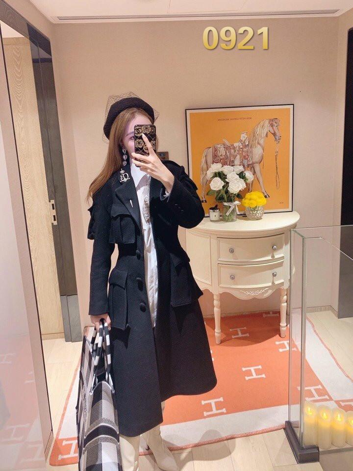 Original version 2020 autumn/winter fashion new ladies coat slim mid-length woolen coat trendy women's clothing T11998910001