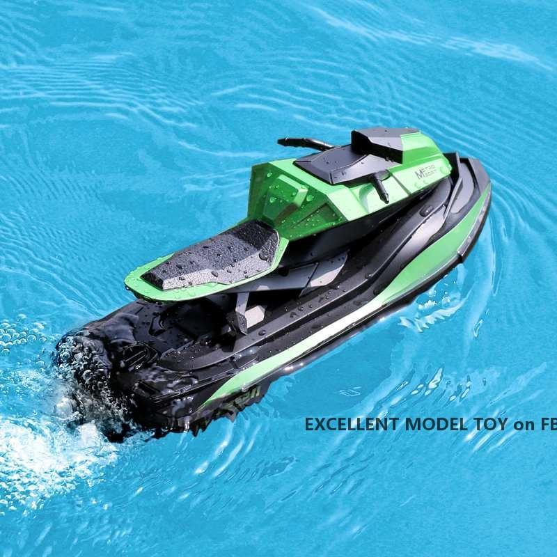 JJRC S9 2.4G Fernbedienung Speedboat Motorboat Spielzeug, Doppelmotor Strong Macht, Highspeed 10km / h, Weihnachtskinder Geburtstagsjunge Geschenke, Useu
